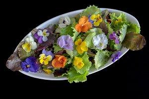 Flowers salad