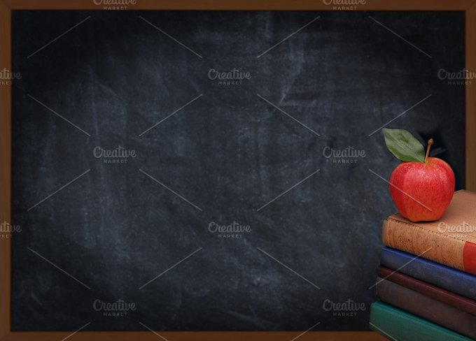 Books-Apple-Chalkboard.jpg - Education