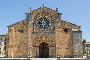 San Pedro church facade. Avila