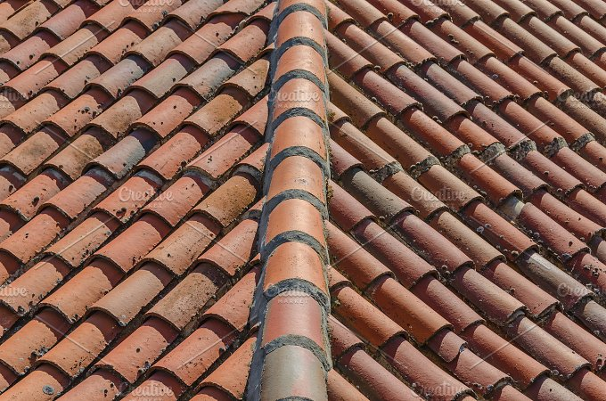 Clay Tiles Roof Abstract Photos Creative Market
