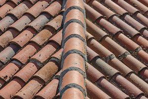 Clay tiles pattern
