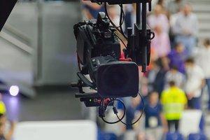 Tv camera broadcast