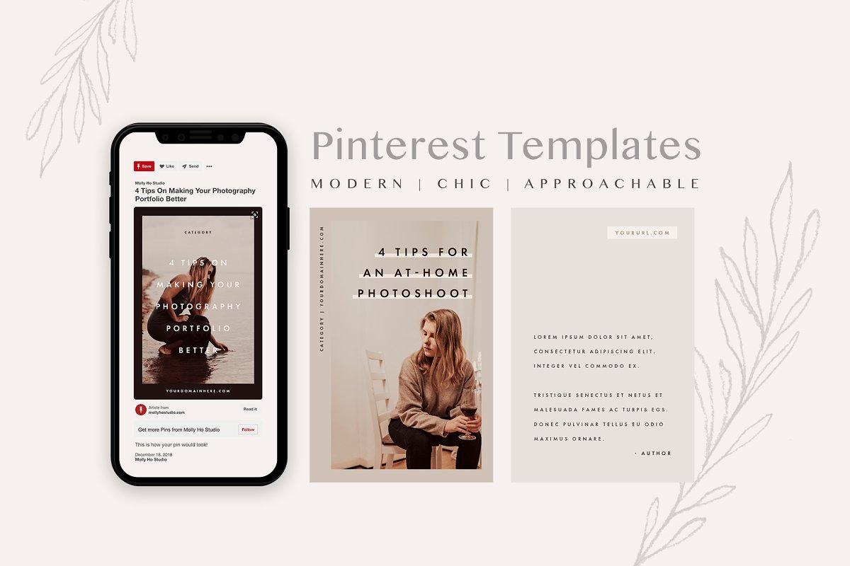 Modern Pinterest Template Set
