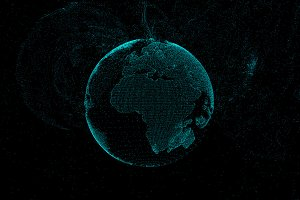 communication network of planet