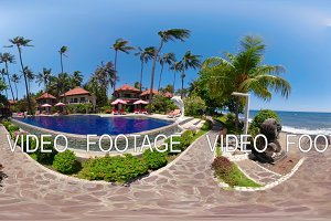 swimming pool in the resort vr360