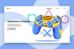 PS4 Controller - Banner&landing page