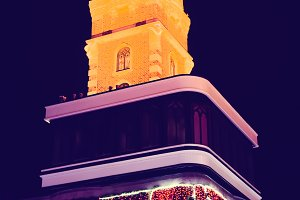 Clock tower in night time