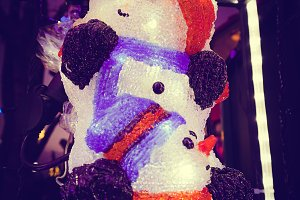 Decoration of snowman statue