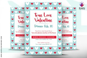 Valentine Dinner Flyer PSD