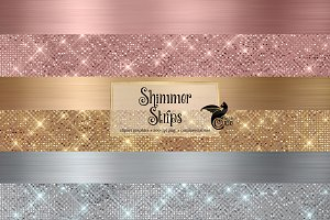 Shimmer Strips Clipart & Overlays