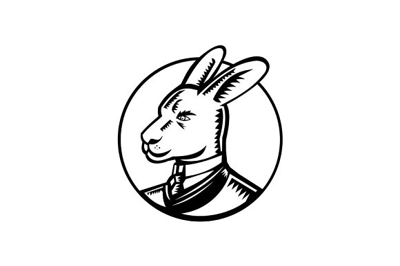 kangaroo wearing business suit circl illustrations creative market