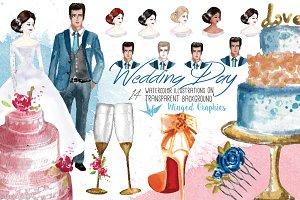 Wedding Day : illustration set