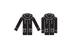 Park jacket black vector concept