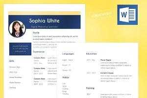Elegant Resume CV .doc Template