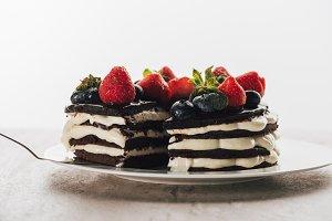 pieces of gourmet whoopie pie cake w