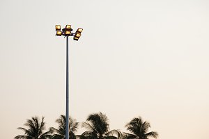 lantern on top of poles