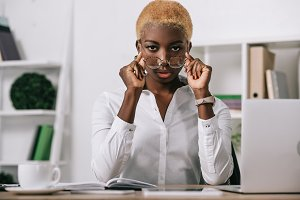 african american businesswoman with