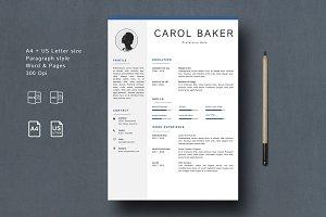 Resume/CV Template BAKER