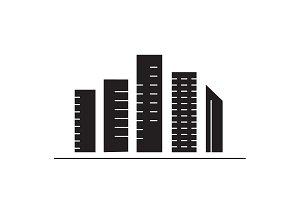 Skyscrapers black vector concept