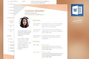 Feminine Resume CV doc MS Office