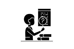 Software testing black vector