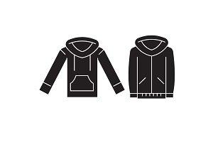 Sweatshirt hoodie black vector