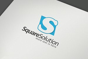 Square Solution S Letter Logo Templa