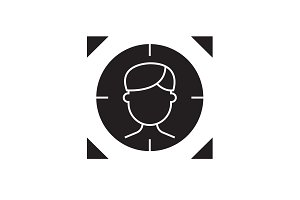 Target person black vector concept