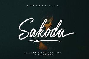 Sakoda Signature Font