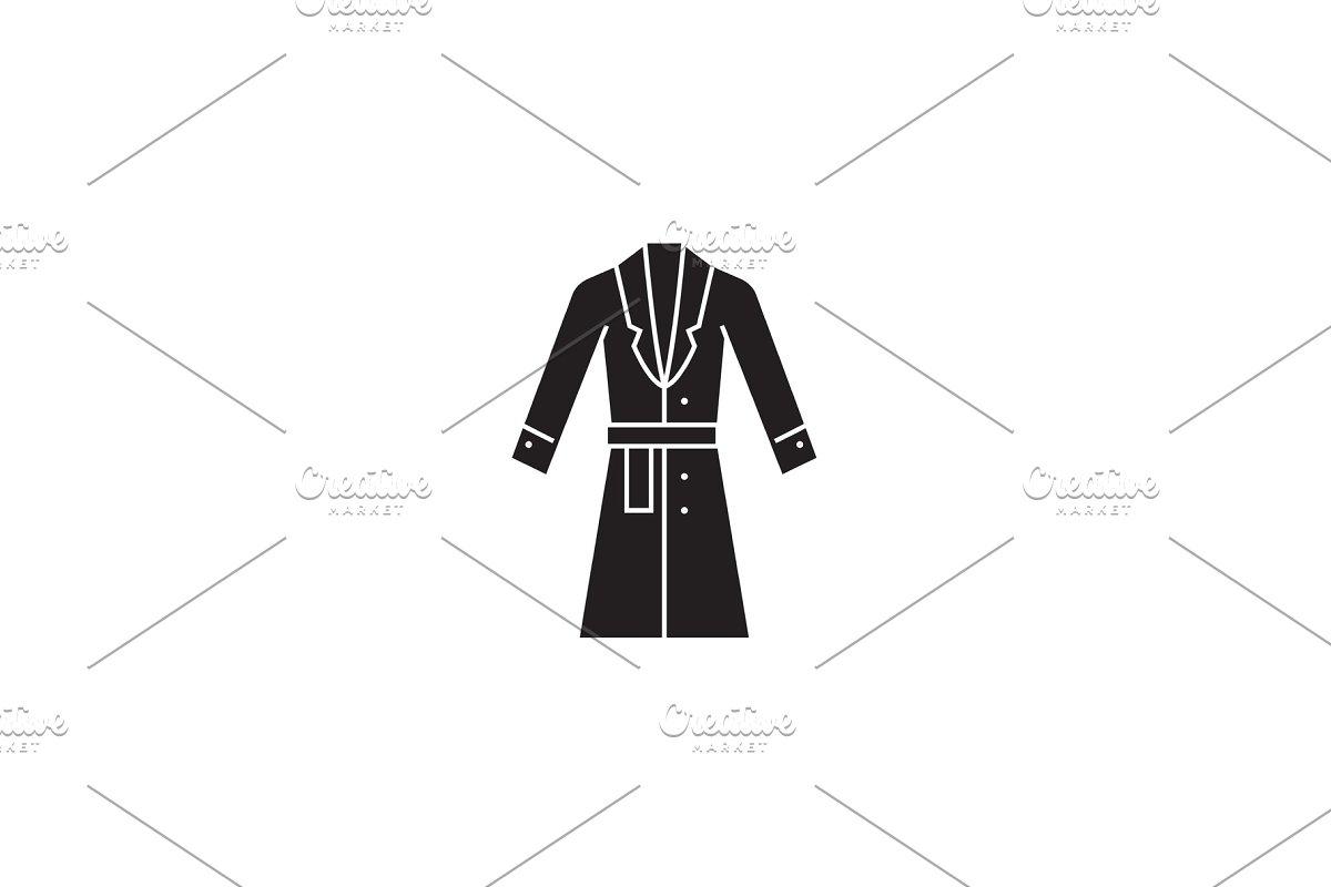 297e242bef9 Topcoat, winter coat black vector ~ Illustrations ~ Creative Market