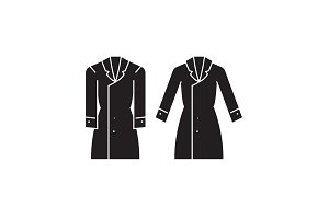 Trench coat black vector concept