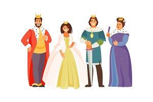 Royal family vector