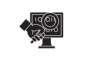 Web search black vector concept icon