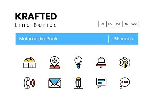 Krafted - 65 Multimedia Icons