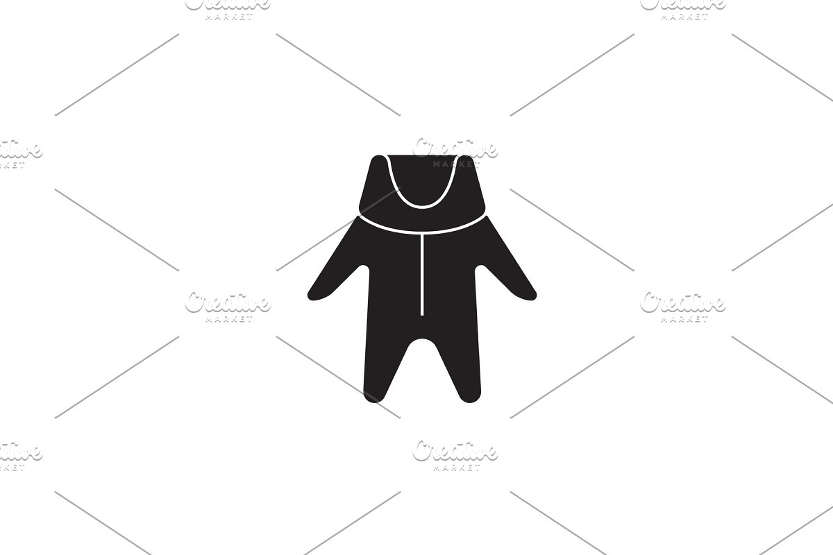 ce291e9d3e9 Winter baby clothes black vector ~ Illustrations ~ Creative Market