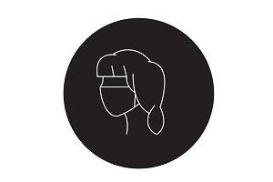 Face bandage black vector concept