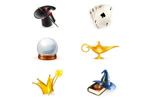Magician icons and cards