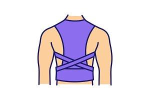 Posture corrector color icon