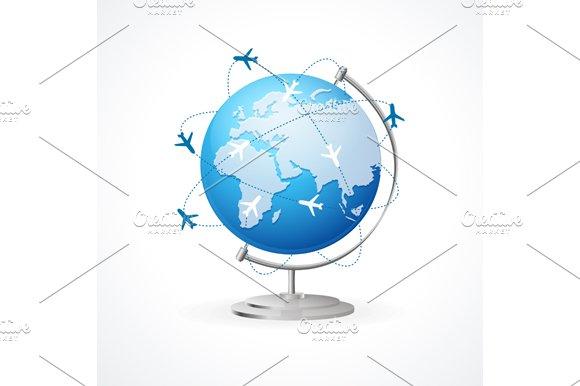 Vector Air Craft Shipping. Transport - Illustrations