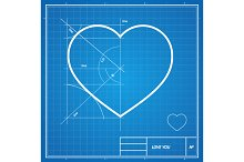 Vector Holiday Card.Blueprint paper.