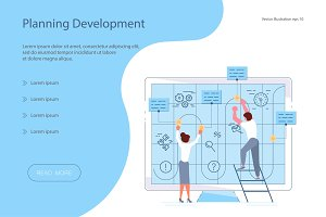 Landing page template of Planning