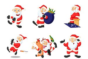 Cartoon illustration of Cute Santa