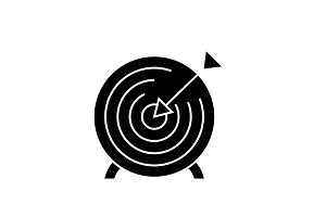 Goal target black vector concept