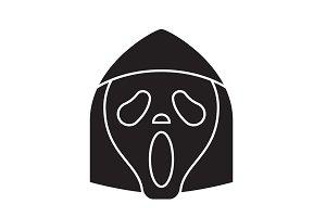 Grim reaper emoji black vector