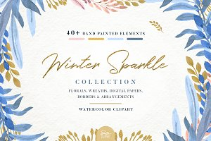 Winter Sparkle clipart collection