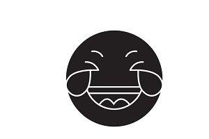 Grinning emoji wit h face black