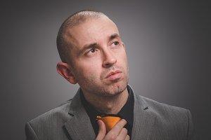 Interesting businessman portrait