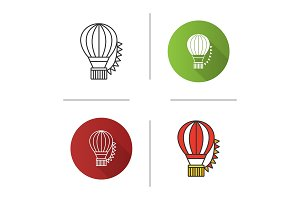 Hot air balloon festival icon