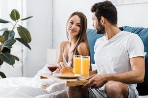 Young couple in the morning