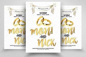 Wedding Invite Psd Flyer Template